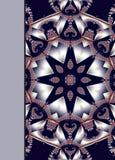 有美好的螺旋样式的笔记本盖子在分数维设计 库存例证