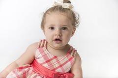 有美好的表示的小女孩 免版税库存照片