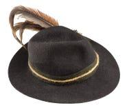 有羽毛的帽子 免版税库存图片