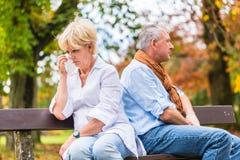 有老人和的妇女论据 免版税图库摄影