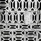 有老砖的剥落织地不很细墙壁 免版税图库摄影