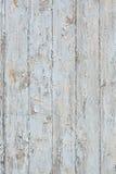 有老蓝色油漆的难看的东西木墙壁 免版税库存图片