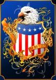 有老鹰的美国盾() 皇族释放例证