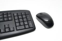 有老鼠的键盘 免版税库存图片