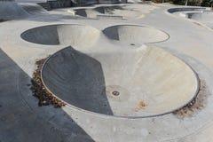 有老鼠头区域的滑板公园 免版税库存照片