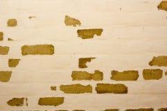 有老绘画的砖墙 免版税库存图片