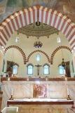 有耶稣受难象的清真寺Qazim在佩奇匈牙利 免版税库存照片