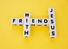 有耶稣的朋友 免版税库存图片