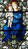 有耶稣的母亲玛丽她的胳膊的 免版税库存照片