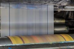 有聚乙烯的机器塑料袋的生产的 库存图片