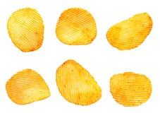 有肋骨土豆快餐集合 库存照片