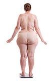 有肥胖病的少妇在等级 库存图片
