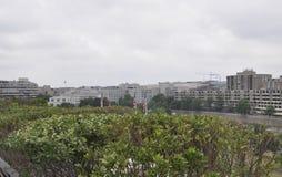 有肯尼迪中心邻里的全景从华盛顿哥伦比亚特区美国 图库摄影