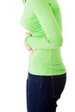 有胃问题的少妇 库存图片