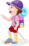 有背包的男孩 库存例证