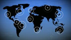 有背景地图的雷达 皇族释放例证