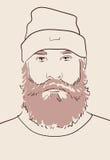 有胡子和髭的人 免版税库存照片