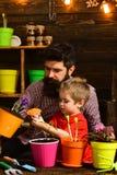 有胡子的人和小男孩儿童爱自然 r r : ?? 库存照片