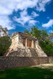 有胡子的人墨西哥寺庙 免版税库存图片