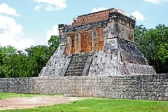 有胡子的人的寺庙,奇琴伊察,墨西哥 库存照片