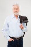 有胡子的英俊的年长人 免版税库存图片