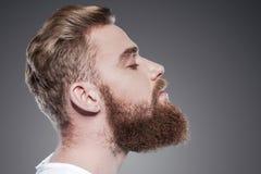 有胡子英俊 免版税库存照片