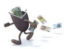 有胳膊的钱包和腿消失 免版税库存图片