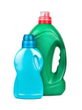 有胶凝体洗涤物的瓶 库存照片