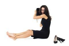 有膝上型计算机的女实业家 免版税库存图片