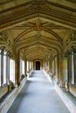 有自然光的长的走廊 库存图片
