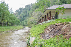 有自然的河沿家在泰国 免版税库存图片