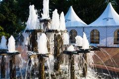 有自然矿泉水的喷泉在格罗尔斯泰因 库存图片