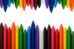 有自由空间的多彩多姿的铅笔文本的 免版税库存图片