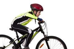 有自行车的孩子 免版税图库摄影