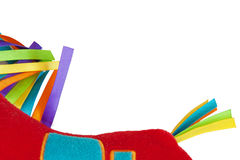 有色的丝带的玩具 库存照片