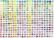 有色的长方形的水彩调色板 多彩多姿的抽象手画背景 皇族释放例证