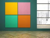 有艺术的空的室在墙壁上 免版税库存图片