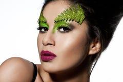 有艺术脸的妇女 免版税图库摄影