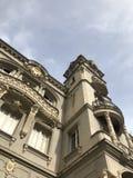 有艺术neuveau装饰的老市政厅 库存图片