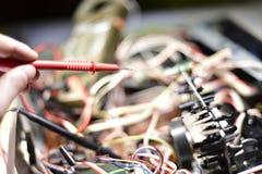 有芯片的电子委员会 免版税库存图片