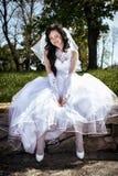 有花床的新娘 图库摄影