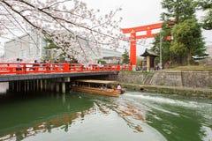 有花托的冈崎运河 免版税库存照片