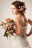 有花束的新娘 免版税库存图片