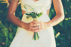 有花束的新娘 库存图片