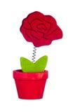 有花的花瓶 免版税库存照片