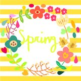 有花花圈装饰的春天 免版税图库摄影