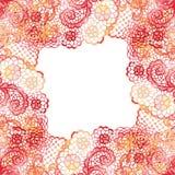 有花边的典雅的框架 1个看板卡邀请 免版税库存照片