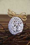 有花边的复活节彩蛋 免版税图库摄影
