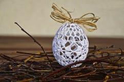 有花边的复活节彩蛋 免版税库存图片