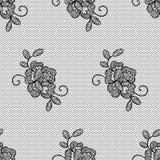 有花边的花无缝的样式 库存照片